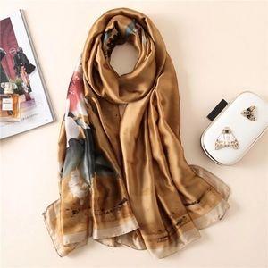 🔥Silk scarf *like new*